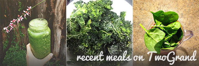 Recent green veggie meals on TwoGrand