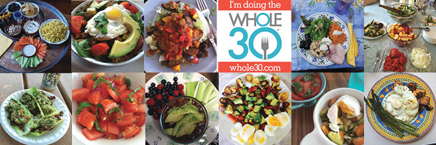 Whole30 photo collage